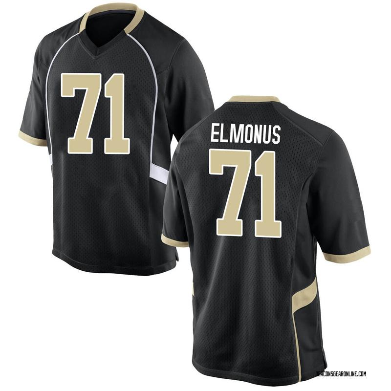 Game Men's CJ Elmonus Wake Forest Demon Deacons Black Football College Jersey