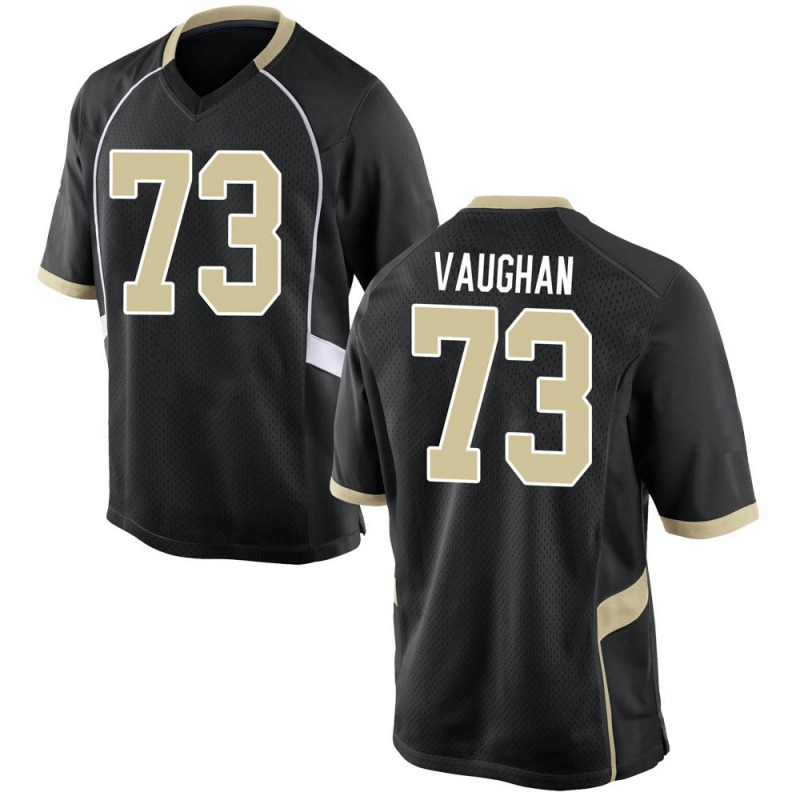 Game Men's Zach Vaughan Wake Forest Demon Deacons Black Football College Jersey