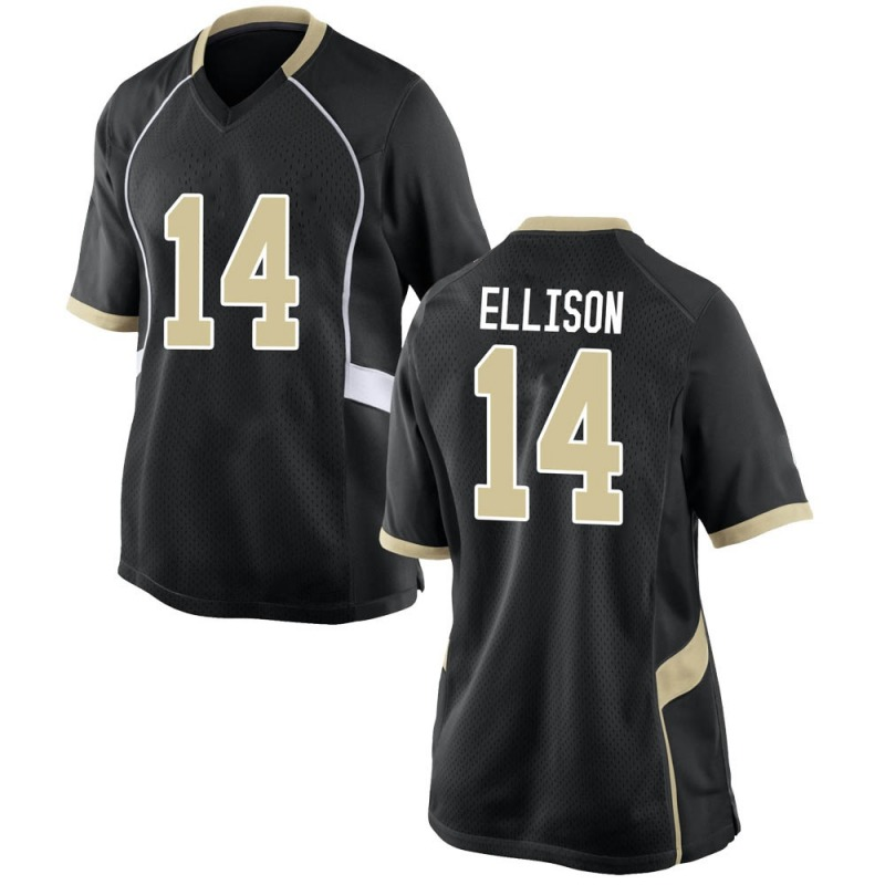 Game Women's Justice Ellison Wake Forest Demon Deacons Black Football College Jersey