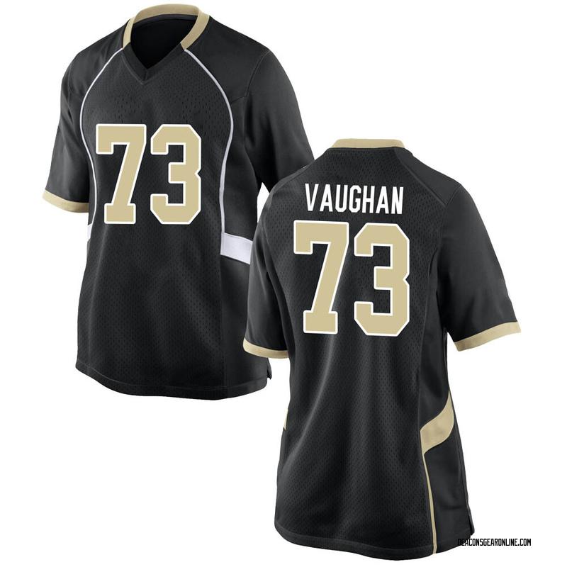 Game Women's Zach Vaughan Wake Forest Demon Deacons Black Football College Jersey