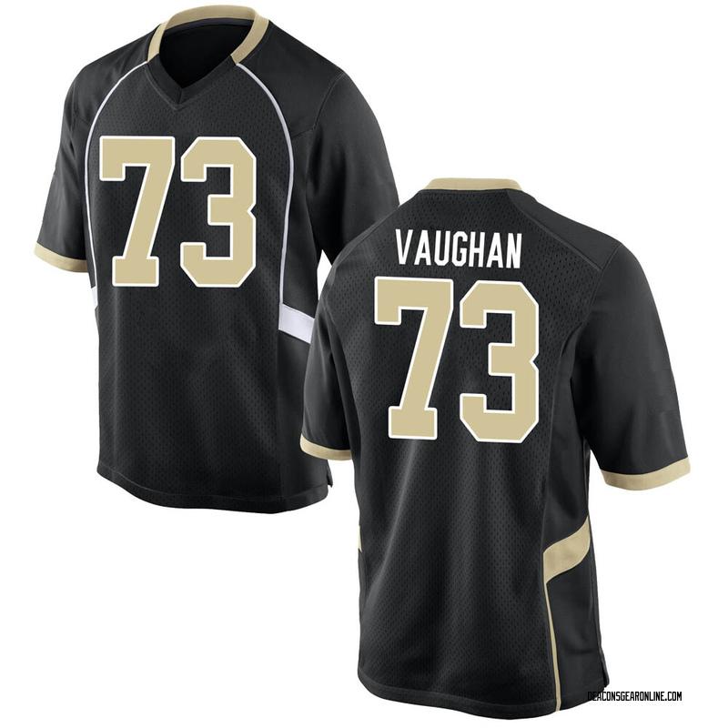Replica Men's Zach Vaughan Wake Forest Demon Deacons Black Football College Jersey