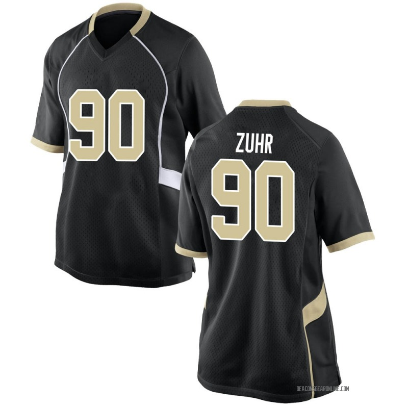 Replica Women's Jacob Zuhr Wake Forest Demon Deacons Black Football College Jersey